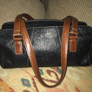Tooled Leather Fossil Vintage Handbag PERFECT ❤️